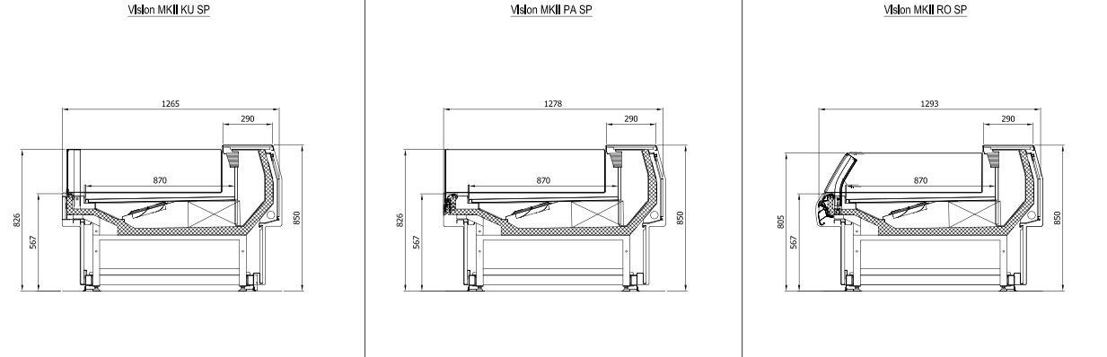 Illustrations Vision MKll self-service unit